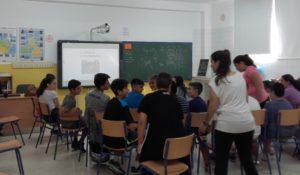 Taller con los alumnos del colegio Virgen del Mar de Calahonda