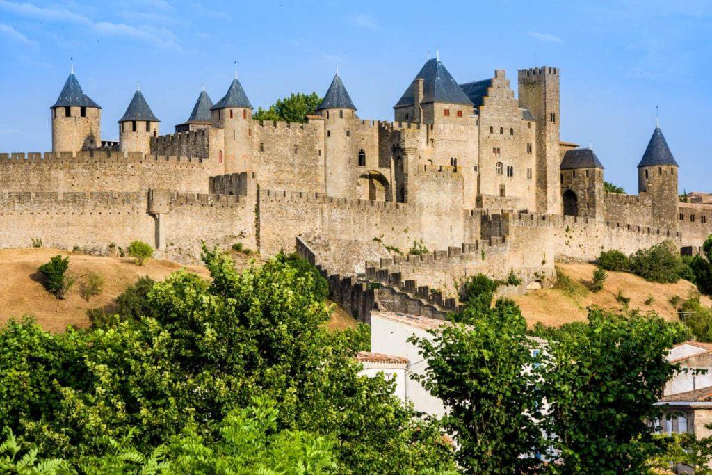La ciudad mediaval de Carcassone, en Francia
