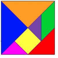 como hacer un tangram