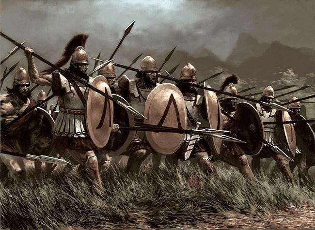 Soldados espartanos