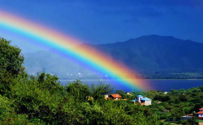 vista de un arcoiris